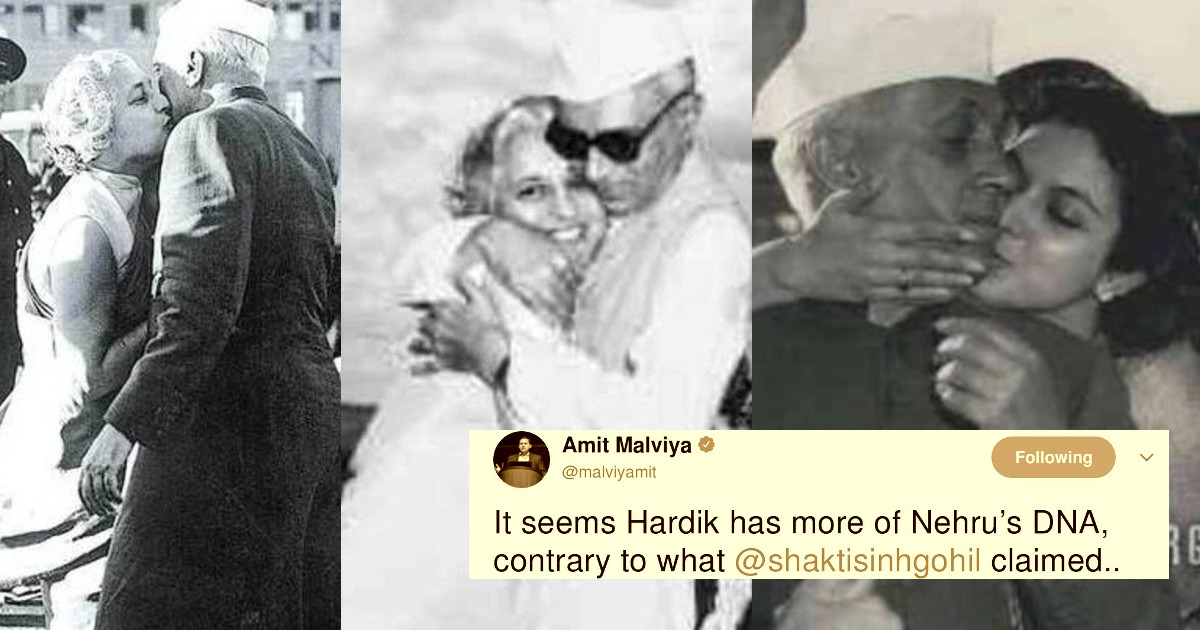 BJP IT cell head Amit Malviya shares affectionate pictures of Nehru with his sister and niece, claims this is Hardik Patel's DNA