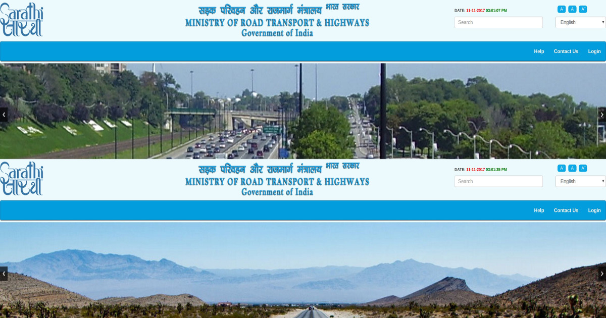 Union Ministry of Road Transport & Highways website uses pictures of roadways from US & Canada!
