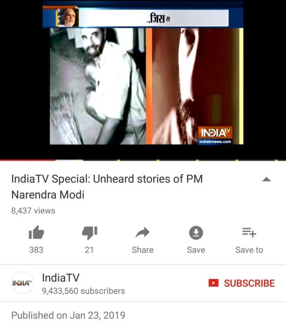 This Analysis Shows How Viral Fake Election News Stories: India TV Broadcasts Fake Image Of PM Modi Sweeping The