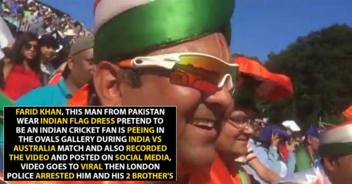 Man Dressed In Indian Flag Urinating During Cricket Match Is Indian Origin And Not Pakistani Alt News