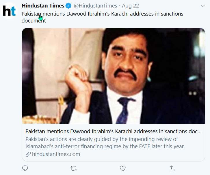 Misleading reports claimed Pakistan admitted to Dawood Ibrahim's presence  in Karachi - Alt News