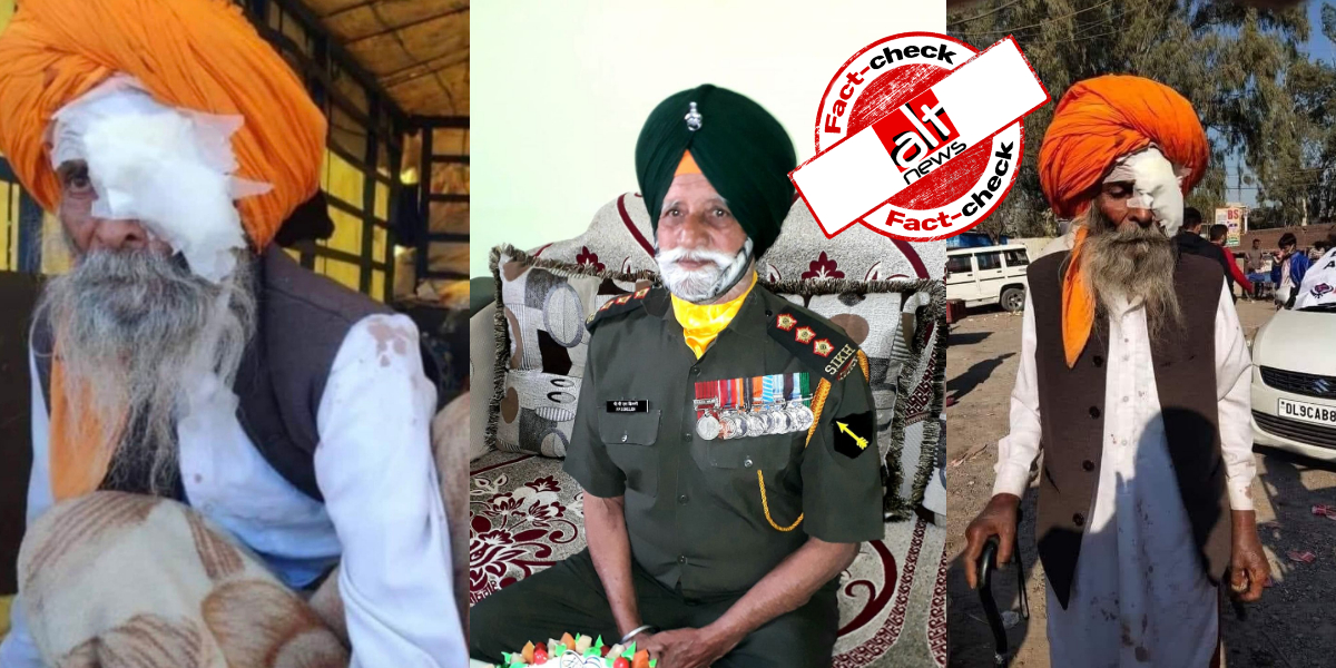 No, Sikh man injured during farmers' protest is not Captain PPS Dhillon (Retd.)