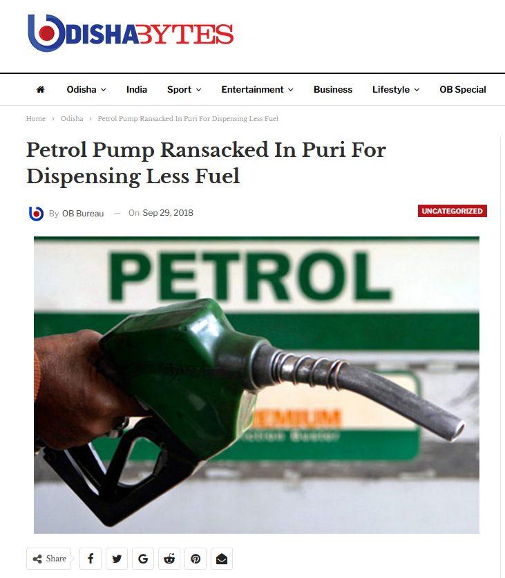 2021 07 06 13 52 53 Petrol Pump Ransacked In Puri For Dispensing Less Fuel Odisha Bytes %E2%80%94 Mozilla
