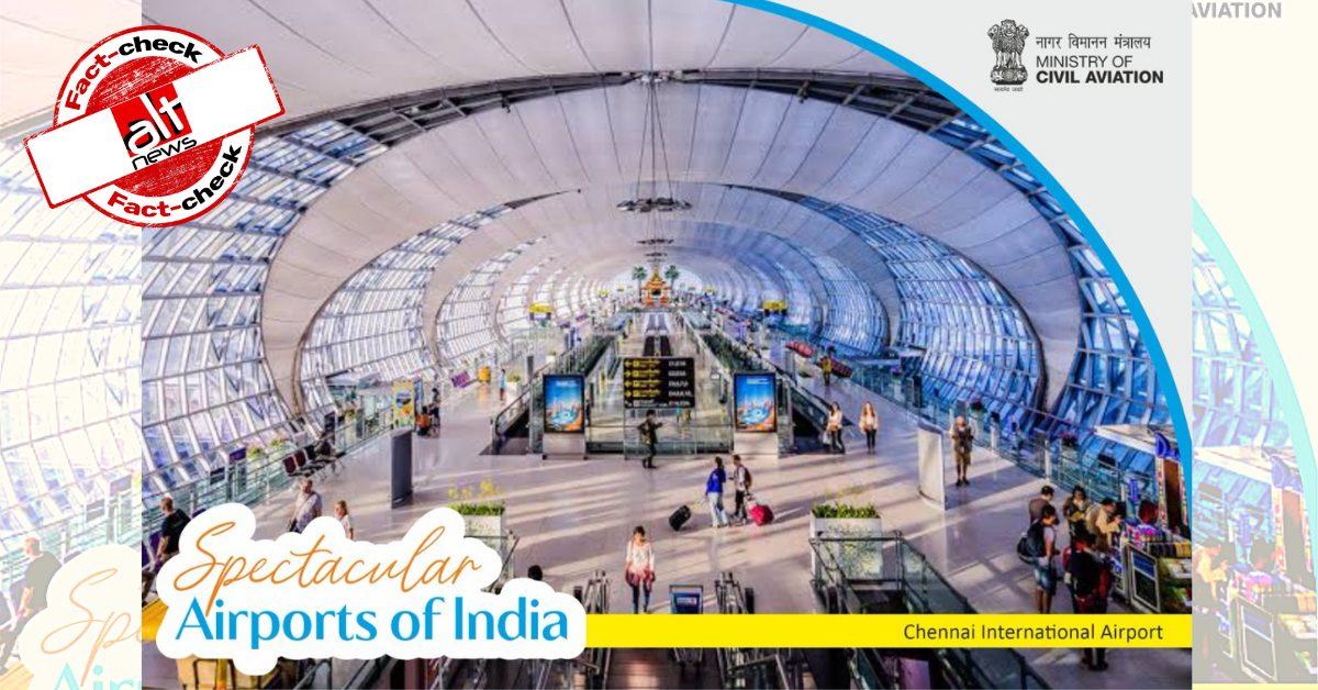 Ministry of Civil Aviation tweets photo of Bangkok Airport as Chennai Airport