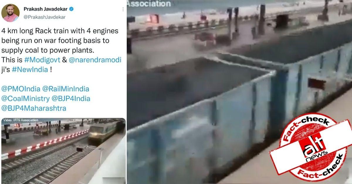 Prakash Javadekar shares 8-month-old video as govt supplying coal amid recent shortage