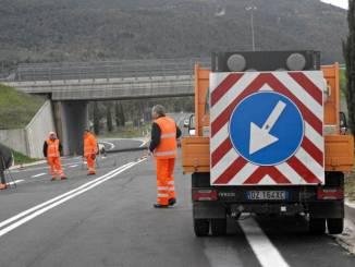 Anas lavori strada Pian d'Assino statale 219 di Gubbio
