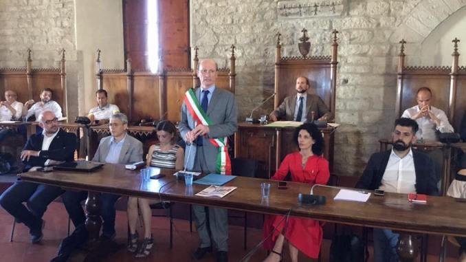 Gubbio, insediato oggi pomeriggio il consiglio comunale