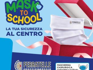 Mask to School: iniziativa del centro commerciale Ferratelle di Gubbio
