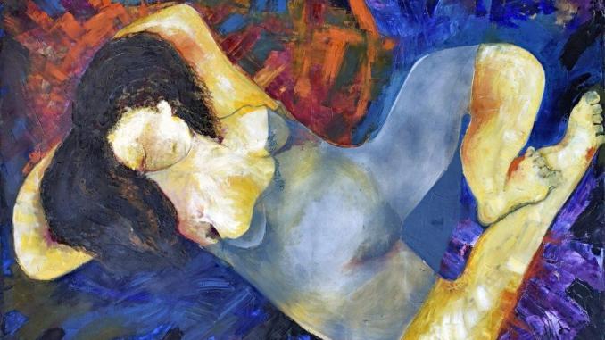 Vittorio Sgarbi a Gualdo Tadino inaugura la mostra di Anna Morroni