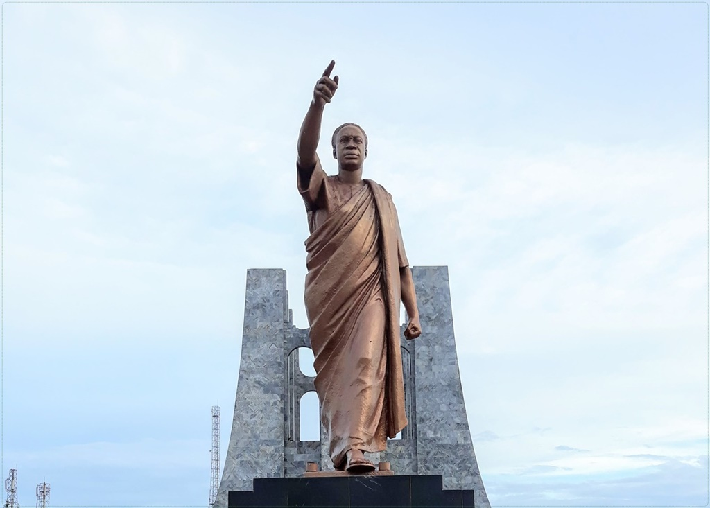 Kwame Nkrumah symbolically shows us the way