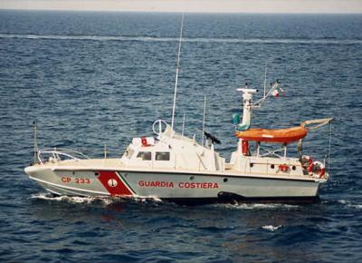 Motovedetta CP 233 utilizzata per il salvataggio dei naufraghi della nave London Valour affondata nelle acque prospicenti il porto di Genova in data 09.04.1970