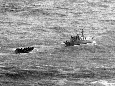 Super Speranza CP-233 06/04/70 salvataggio vite umane a Genova traina scialuppa