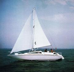 Exocetus Volans in navigazione dislocante a vela
