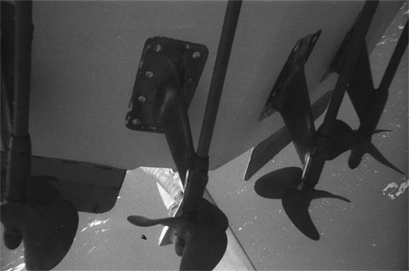Particolare propulsioni in immersione G50