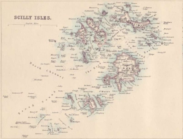 Mappa isole Scilly