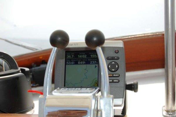 Un momento della prova in mare di Speranzella Fujiyama del 30 giugno 2015. Il GPS segna la velocità di 36,7 nodi: uno spettacolo!!