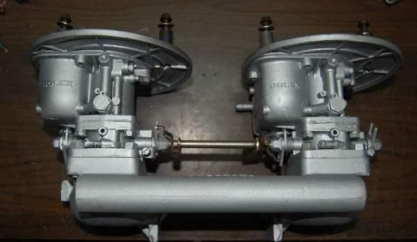 Collettore e carburatori Solex 44