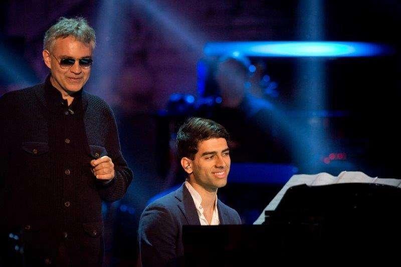 Andrea Bocelli con il figlio Amos