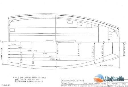 piani costruzione imbarcazione a vela: Optimist