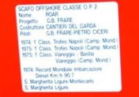 Roar Classe OP2 di GB. Frare n.di gara 411 Vittorie e primato mondiale velocità