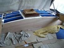 Restauro barca - Sostituzione paratia vano di poppa