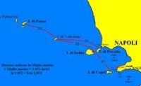 distanze tra Isole Pontine e Flegree