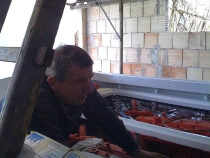 Restauro barca classica Levi - Giancarlo detto Bubu il meccanico