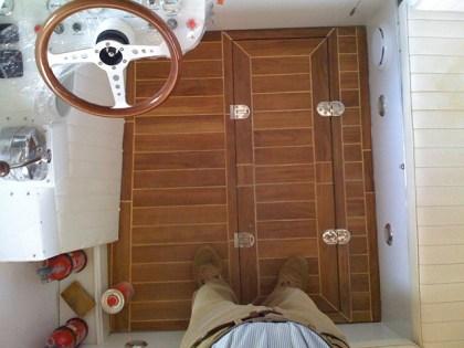 Restauro barca classica Levi: Mini Drago Italcraft Grisù - pozzetto in teak