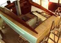 Restauro barca classica Settimo Velo pozzetto