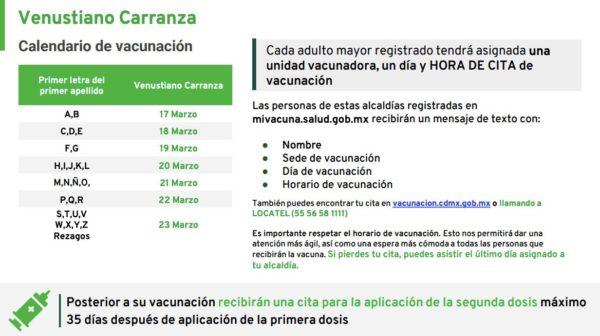 Madero, miguel hidalgo, tláhuac o venustiano carranza. Vacunación CDMX: Inicia campaña en Venustiano Carranza y