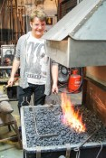 Rhyan at the forge
