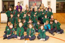 Alton Lions Make A Difference To The Scouts' Cabin