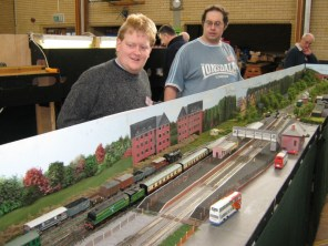 AMRG members Nic White and Mark Pretious operating the Group OO Layout 'Alton'