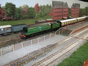 A train arrives at Alton Station