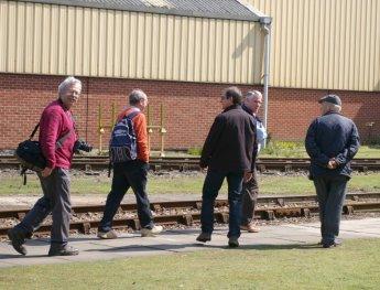Members walking the site