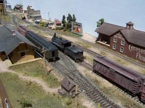 An overview of the Pine Bluffs depot