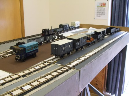 A variety of wagons on the layout