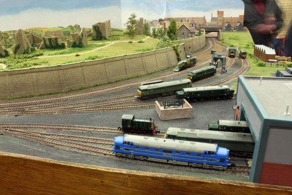 The diesel loco yard on 'Nine Mills'