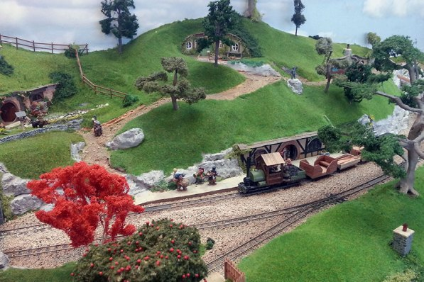 A train departs from Hobbiton End station