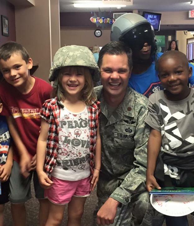 Kids Cafe 2015 Zach with kids