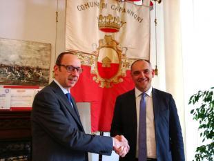 il sindaco Luca Menesini e il direttore della Casa Circondariale, Francesco Rue