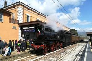 Treno storico, a vapore, Porretta, stazione (luglio 2017)