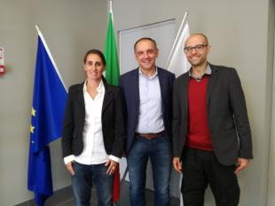 Luca Menesini, Federica Bertocchini e Paolo Bombell