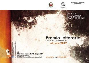 Il manifesto del Premio letterario