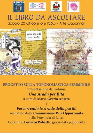 Sabato 28 ottobre ad Artè un'iniziativa sulla toponomastica femminile