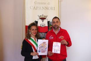 L'assessore allo sport Serena Frediani e Gianluca Orsi, coordinatore Warriors