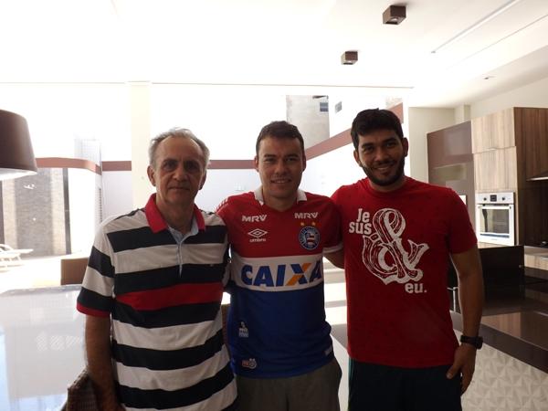 Renato ao lado pai Belisario e do irmão Segundo/ Foto Beto Cézar
