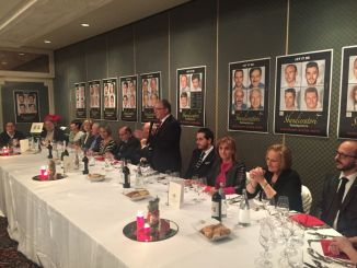 Sansepolcro successo per cena fine anno Gruppo Sbandieratori