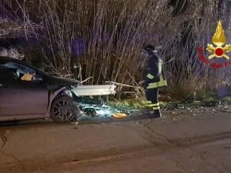 Incidente stradale nella notte a Città di Castello, tre feriti