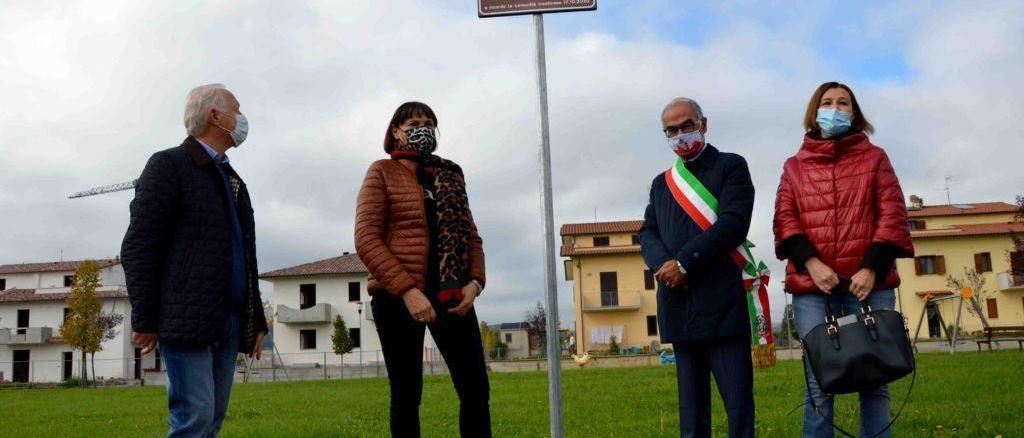 A Trestina un'area verde intitolata ad Angiolo Zamponi, esponente politico